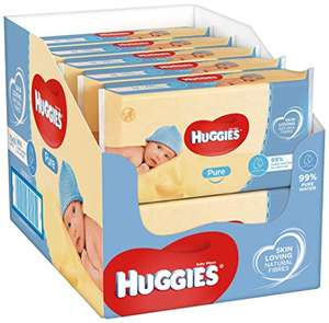 Huggies Pure Baby Wipes - 10 Pack (Total 560 Wipes) - £6.25 for 12 Pack (Total 672 Wipes) for £7 / (+£4.49 non prime) delivered @ Amazon
