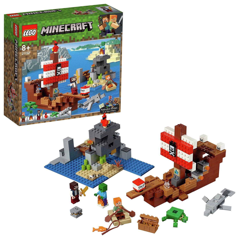 LEGO Minecraft Pirate Toy Ship Adventure Playset - 21152 - £33.75 @ Argos