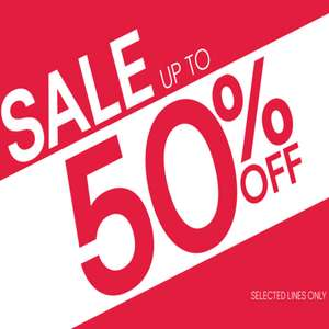 50% off selected lines at F&F Clothing
