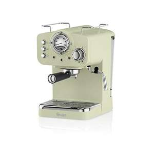 Swan SK22110GN, Retro Pump Espresso Coffee Machine, 15 Bars of Pressure, Green £81.98 @ Amazon