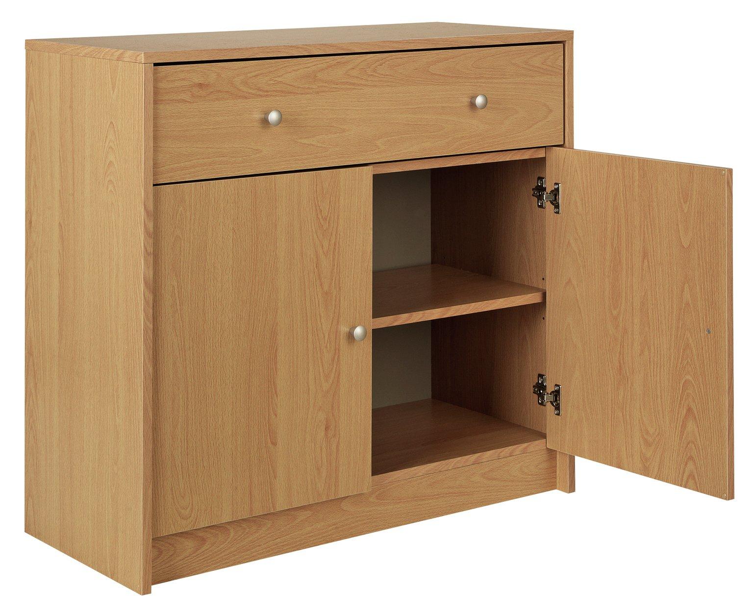 Argos Home Maine 2 Door 1 Drawer Sideboard - Beech Effect - £43.33 @ Argos