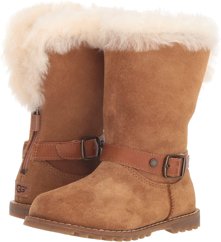 UGG infant girls Nessa boots in chestnut (sizes infant 5-9 available) for £34.98 delivered @ MandM Direct