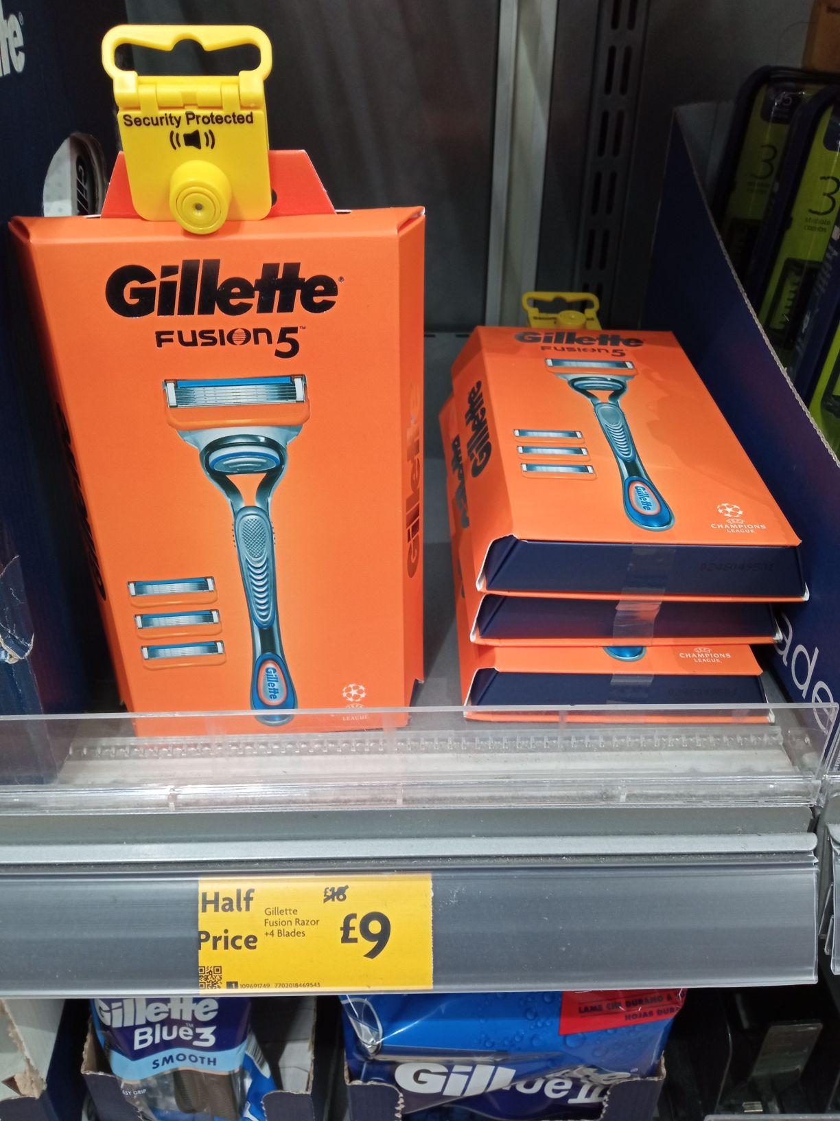 Gillette Fusion razor + 4 blades £9 @ Morrisons (Cheadle)