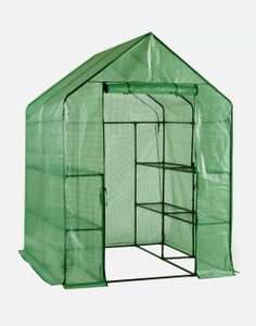 Walk in Apex Greenhouse with shelves £30 delivered @ B&Q