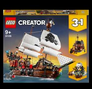 LEGO Creator 31109 3in1 Pirate Ship Toy Set £68.40 with code at Hamleys