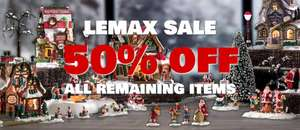 Lemax Christmas Village 50% reductions at Dawsons Department Store