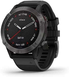 Pre-Owned Garmin Fenix 6X Sapphire with Black Band 51mm, Grade B - Used £385 @ CeX