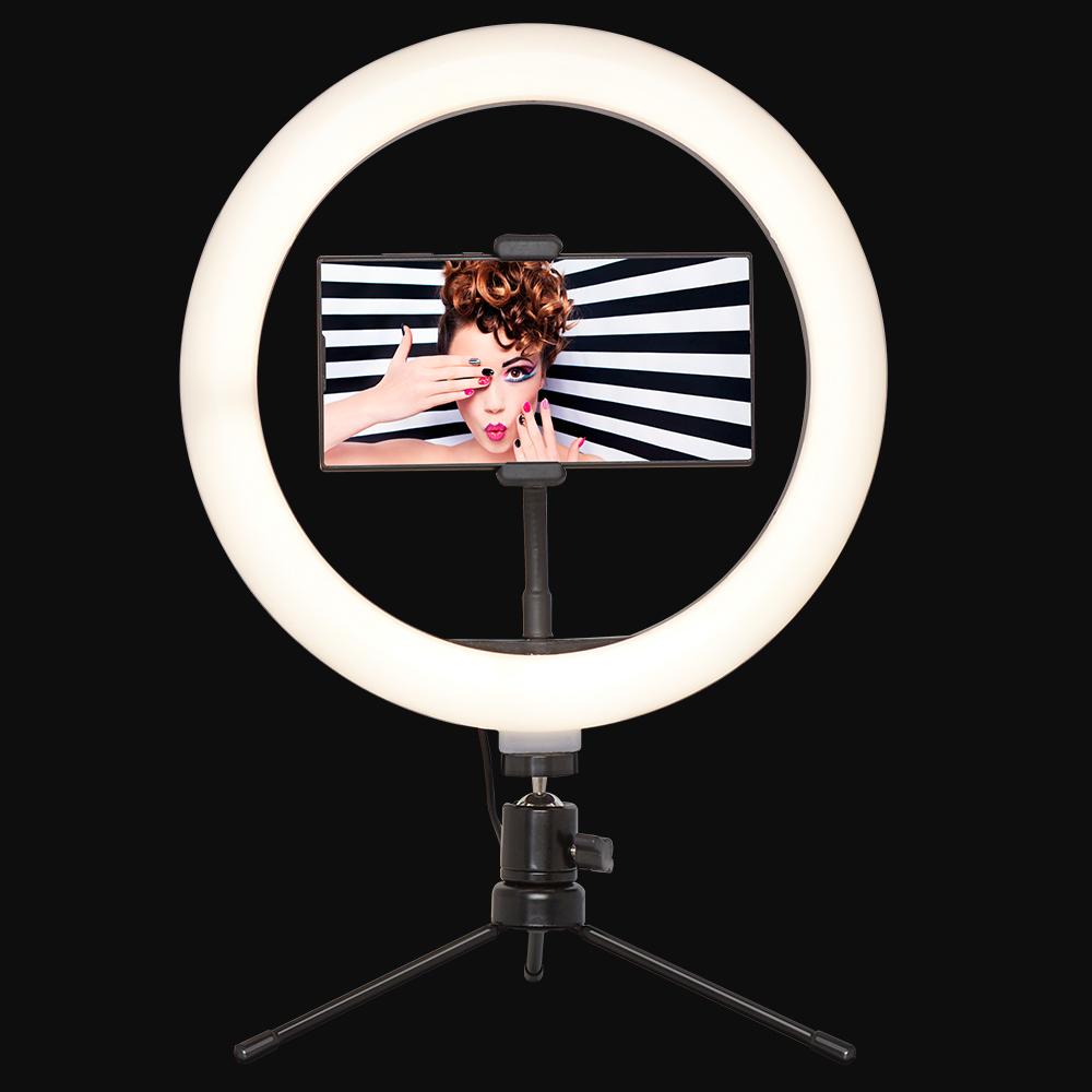 """Desktop selfie/social media 10""""ring light and phone holder £8.99 (£3.49 delivery) @ Home Bargains"""