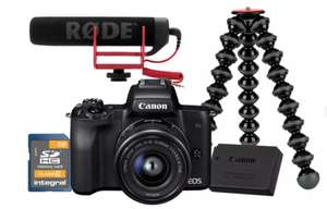 Canon EOS M50 Mirror less 4k video vlogger kit, Rodeo mic spare battery SD Card included and Jobe GorillaPod 100 £699.99 @ Argos
