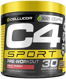 Cellucor C4 Sport Pre-workout energy drink 30 Servings from £9.90 S/S Prime (+£4.49 NP) @ Amazon