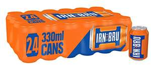 Irn-Bru / Irn-Bru XTRA - cans 24 pk £6.74 (£6.40 S&S) Free Prime Delivery (+4.49 NP) @ Amazon