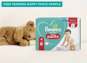 Pampers Nappy Pants size 4 FREE sample at Pampers