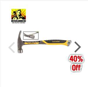 Roughneck High Velocity Turbo Claw Hammer 16oz £11.94 at Toolstation