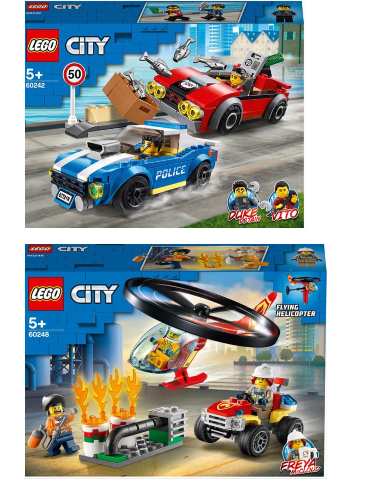 LEGO 60242 City Police Highway & LEGO 60248 City Fire Helicopter with ATV Quad Set £12 each @ Tesco (Peterborough)
