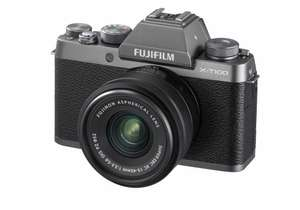 Refurbished Fuji X-T100 in dark silver with XC15-45mm lens - £249 / £253.99 delivered @ Fujifilm Shop