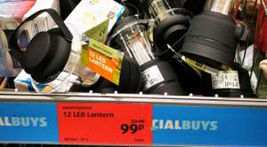 12 LED lantern in store for 99p at Aldi Hounslow