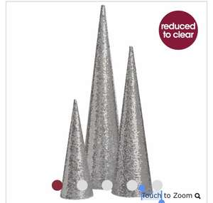 Magical Silver Sequin Christmas Tree Forest 3 Pac £9 delivered at Wilko