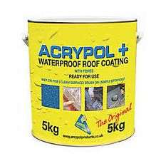 Acrypol+ Waterproof Roof Coating - Grey 5kg £42 (Online and In-Store: Free C&C / Free delivery over £75 otherwise +£7.95) @ Wickes