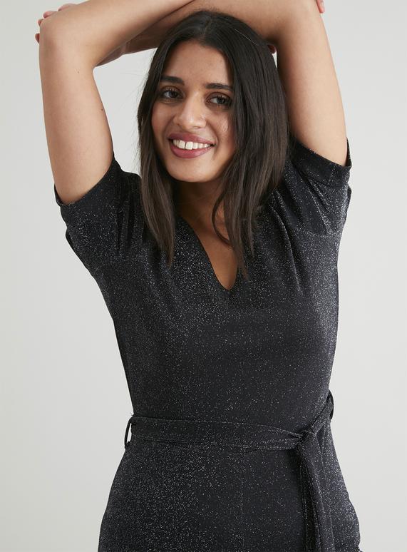 Ladies black sparkle jumpsuit £6.60 +£3.50 delivery at Tu clothing Sainsbury's
