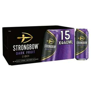 Strongbow Dark fruits 2 packs of 15 cans for £20 @ Asda