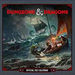 Dungeons and dragons 2021 calendar - £6.92 (+£4.49 Non-Prime) @ Amazon