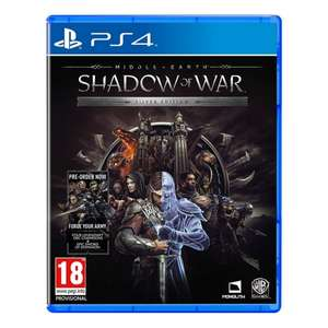Middle Earth Shadow of War Silver Edition PS4 £10.99 @ 365games