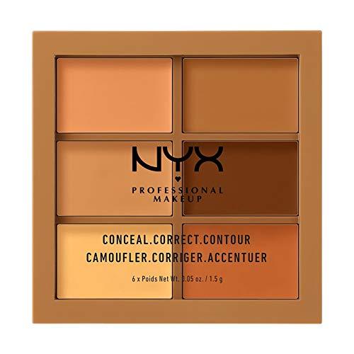 NYX Professional Makeup Conceal, Correct, Contour Palette, Six Shades, Cream Texture, Undertones £7.69 (Prime) + £4.49 (non Prime) at Amazon