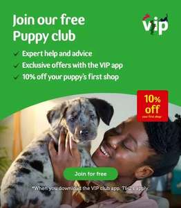Download Pets@Home VIP Club App and get a free 2kg bag of Puppy food + More (50% off first puppy food, FREE Puppy training pads etc.)