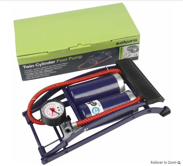 Twin Cylinder Foot Pump £6 instore @ Wilko, Crawley