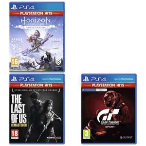 [PS4] Horizon Zero Dawn Complete / The Last Of Us Remastered / Gran Turismo Sport - £6.29 each with code delivered @ Currys PC World