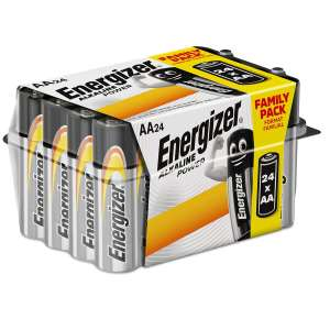 Energizer Alkaline Power Batteries - 24 Pack - AA or AAA - £5.99 - Free Click and Collect @ Robert Dyas
