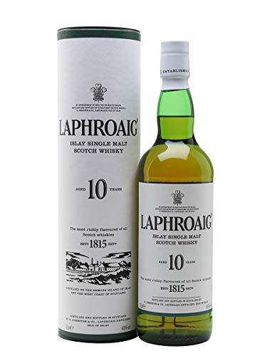 Laphroaig 10 Year Old Islay Single Malt Scotch Whisky, 70 cl - £26 @ Amazon
