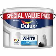 Dulux Pure Brilliant White Matt Emulsion Paint 7.5L £14 + £5 delivery @ Wilko