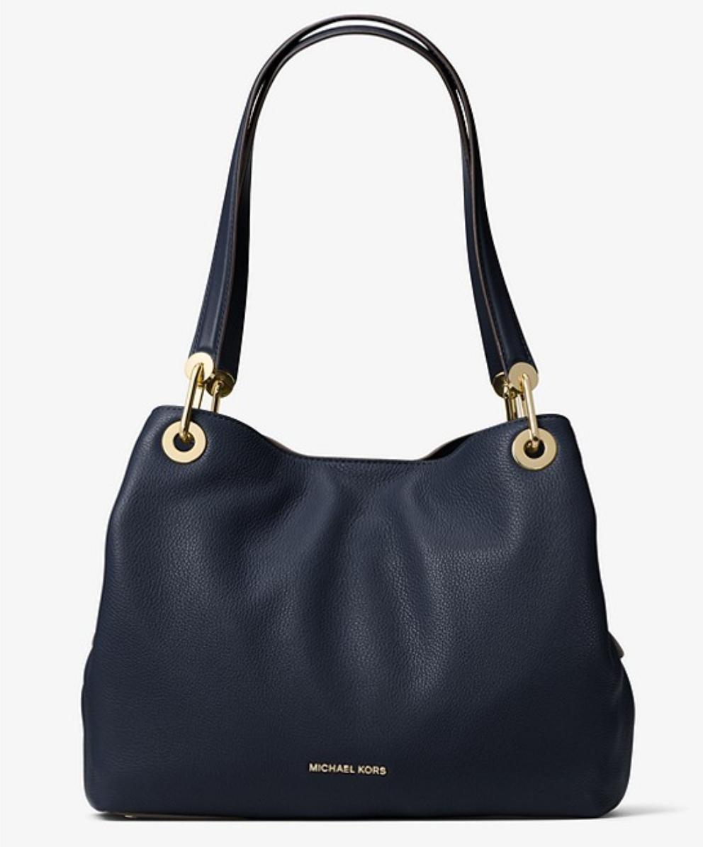 Michael Kors Raven Large Leather Shoulder Bag Now £138 Free delivery @ Michael Kors