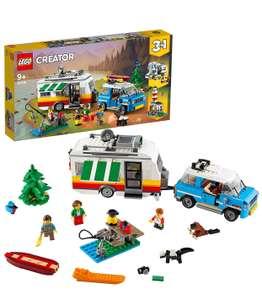 LEGO 31108 Creator 3in1 Caravan Family Holiday Toy with Car, Camperva, Lighthouse, Summer Construction Toy at Amazon - £37.50