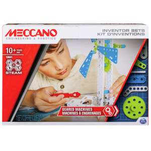 Meccano Inventors 3 Geared Machines Set £10 free click and collect at Argos