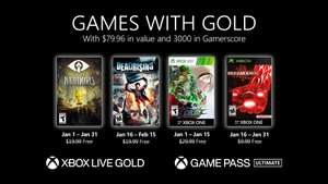 Xbox Games with Gold (January 21) - Little Nightmares, Dead Rising, The King of Fighters XIII, Breakdown & Trine 4