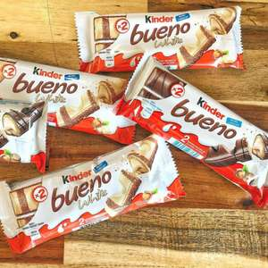 Kinder Bueno 4 Twin Bar Packs White Chocolate/Milk Chocolate are £1.50 @ The Co-operative! (Oldham) & Nationwide
