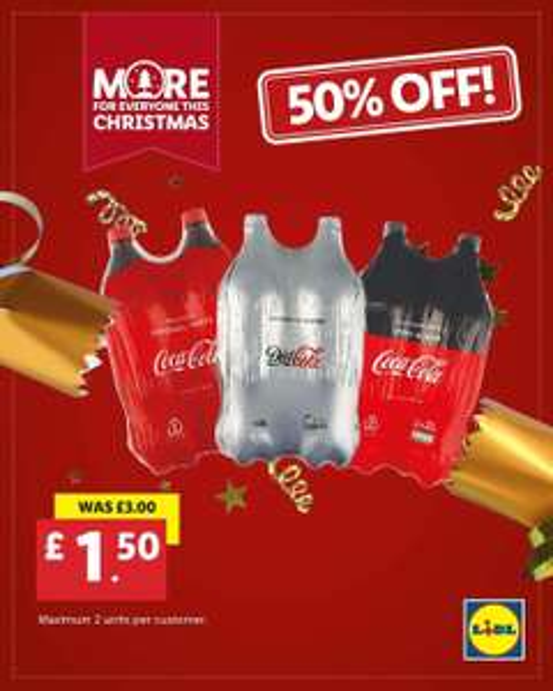 2x 2L Coca Cola, Diet Coke and Coke Zero only £1.50 @ LIDL Northern Ireland