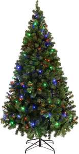 WeRChristmas Pre-Lit Spruce Multi-Function Christmas Tree, 2.1 m - 7 feet with 300-LED Lights, Multi-Colour £66.99 @ Amazon