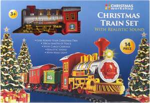 The Christmas Workshop Deluxe Santa's Express Delivery Christmas Toy Train £7.99 prime / £12.48 nonPrime at Amazon