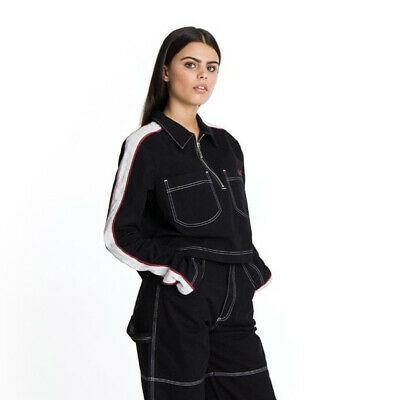 Womens Kickers Cotton Pockets Black Crop Shirt - £6.98 delivered @ bigbrandoutlet2015 / ebay