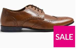 Topman Bedd Leather Brogues - Tan £16 @ Very (£3.99 Delivery / £3 C&C)