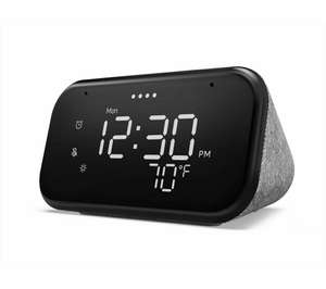 LENOVO Smart Alarm Clock Essential with Google Assistant Night Light plus nectar points - £19.99 Currys on eBay