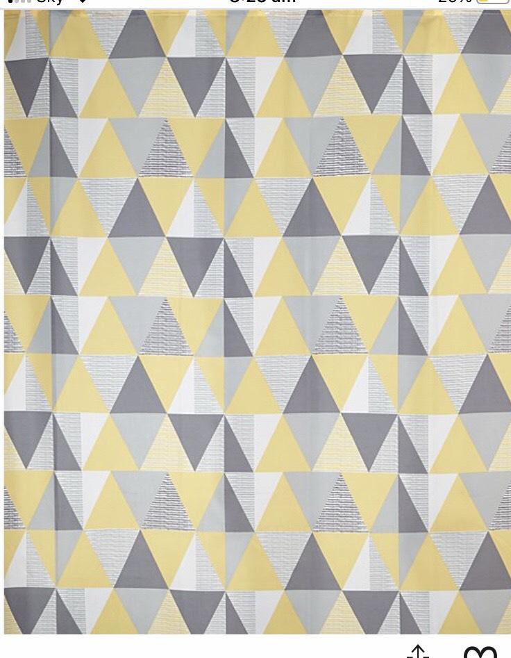 Geometric Print Shower Curtain £1.50 Asda George free Click & Collect
