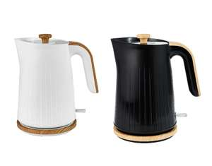 White And Wood, or Black Textured Scandi Fast 3kW Boil Kettle 1.7L - £15.00 with free click and collect @ George Asda. 2 year guarantee