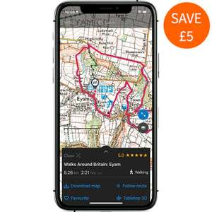 12 Months OS Maps Premium annual subscription £18.99 Ordnance Survey
