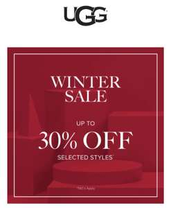 Winter Sale up to 30% off Selected Styles at UGG Shop - free delivery