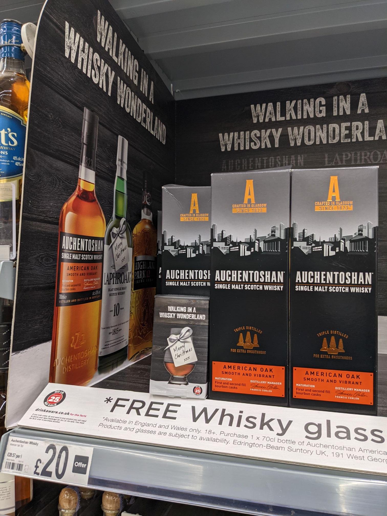 Free Glencairn Whisky Tasting Glass with Tamnavulin £20, Highland Park 12 £25 and Laphroaig 10 £26 at ASDA Colchester