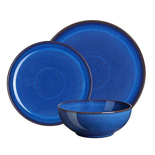 Denby 12-Piece Stoneware Imperial Breakfast Plate & Bowl Set, Blue £88 @ Amazon
